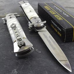 "9"" STILETTO TAC FORCE MILANO TACTICAL PEARL SPRING ASSISTED"