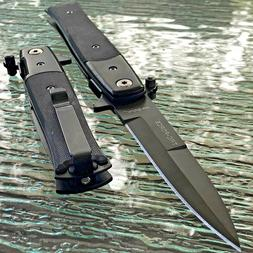 """9"""" TAC FORCE ASSISTED OPEN STILETTO TACTICAL BLACK FOLDING G"""