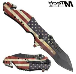 "9"" MTECH USA AMERICAN FLAG STARS & STRIPES SPRING ASSISTED F"