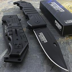 "9"" SPRING ASSISTED TACTICAL FOLDING POCKET KNIFE Blade EDC O"