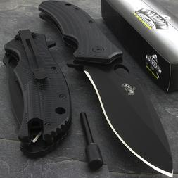 """9"""" SPRING ASSISTED TACTICAL FOLDING POCKET KNIFE w/ FIRE STA"""