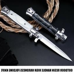 """9"""" STILETTO FORCE MILANO TACTICAL PEARL SPRING ASSISTED FOLD"""