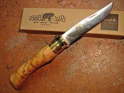 Antonini knives Italy Old Bear small ring lock knife Olive 7