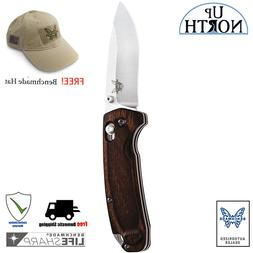 BENCHMADE HUNT 15031-2 North Fork Folding Knife Wood Handle
