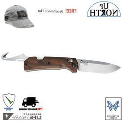 BENCHMADE HUNT 15060-2 Grizzly Creek Folding Knife Wood w/Ho