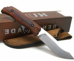 * BENCHMADE Wood SADDLE MOUNTAIN Plain Fixed Blade Knife LEA