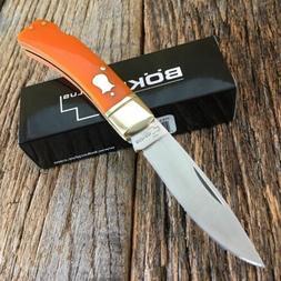 BOKER PLUS Vintage Series Orange LOCKBACK Straight Folding P