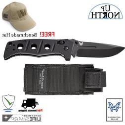 Benchmade 275BK Adamas Folding Knife Blade D2 Black Sheath F