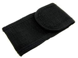 """Black Nylon 4 1/4"""" Folding Knife Multi Tool Belt Sheath Pouc"""