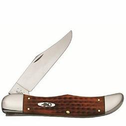CASE XX KNIVES HARVEST ORANGE BONE LARGE FOLDING HUNTER KNIF