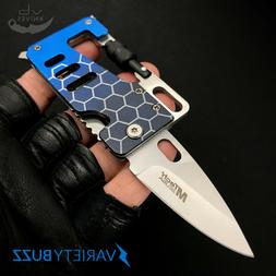 CREDIT CARD MULTI-TOOL Camping Hunting FOLDING KNIFE Wallet