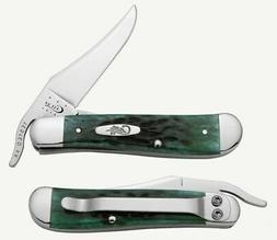 Case XX 9743 Pocket Worn Bermuda Green Bone Russlock with Cl