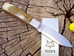 FOX Knives Italy 210CR folding hunter lockback knife with ho