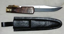 HUGE GIANT MONSTER FOLDING HUNTING KNIFE W/ SHEATH - NEW - F