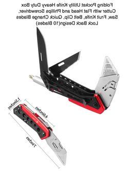 KOBALT Tri-Blade Folding Utility Knife Cutter Quick Change B