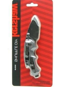 Kershaw Black Shuffle Diy Straight Folding Knife Driver Bott