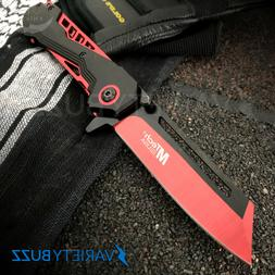 MTECH USA RED SPRING ASSISTED TACTICAL FOLDING POCKET KNIFE