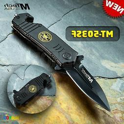 MTech Tactical Rescue Folding Pocket Knife MT-503SF Stiletto