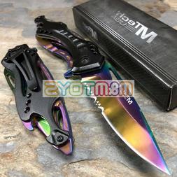MTech USA -  Rainbow Titanium Tactical Pocket Manual Folding