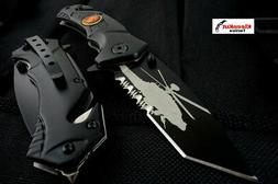 Marines Black Tactical Rescue Spring Assisted Pocket Knife F