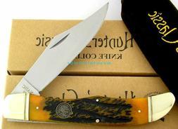 NAHC Hunter's Classic Folding Hunter Knife Jigged Bone Handl