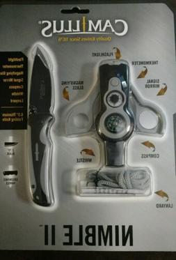 NEW Camillus Nimble II Survival Pocket Knife & Compass Multi