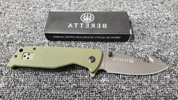 New Beretta Assisted Folding Pocket Knife w/ Gut Hook and Gl