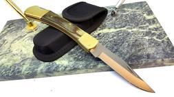 Proto USA Stanley Folding Blade Pocket Knife FS Hardwood Han