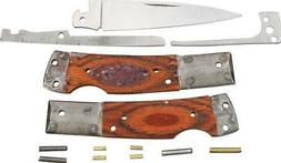 Rough Rider Custom Shop Lockback Wood Stainless Folding Blad