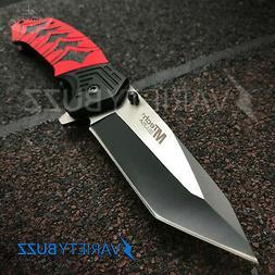 TACTICAL SPRING FOLDING BLADE Red Dragon Samurai Pocket Knif