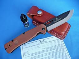 TOPS Fieldcraft Folder Folding Knife w/Pocket Clip & Sheath