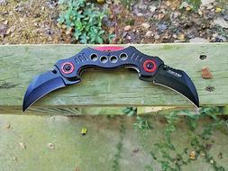 Dual Hawkbill Karambit Spring Assisted Opening Pocket Knife