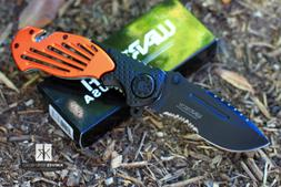 Wartech Assisted Opening Rescue Tactical Pocket Knife SERRAT