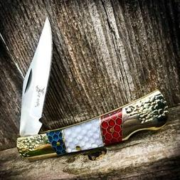 American Pride Lockback Folding Pocket Knife - Patriotic Han
