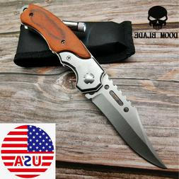 ASSISTED POCKET Folding Blade KNIFE Tactical Survival Rescue