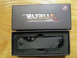 STATGEAR AUSUS Folding Knife Black D2 Steel w Linerlock Blac