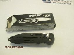 Black Folding Knives Tactical Force Automat Assisted Pocket