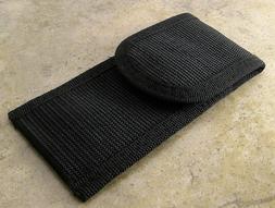 Black Nylon Flashlight Folding Knife Tool Belt Sheath