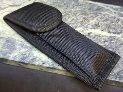 Black Nylon Folding Blade Knife Belt Sheath for Pocket Knive