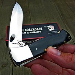 BLACKJACK Knives Folding Mamba Black Micarta Handles Lockbac