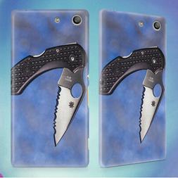 BLADE FOLDING KNIFE PENKNIFE HARD BACK CASE FOR SONY XPERIA
