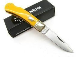 Boker Plus 01BO250Y Lockback Yellow Pocket Knife with 3 in.