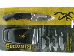 Browning BR0115 Speed Load Folding Knife w/Black G-10 Handle