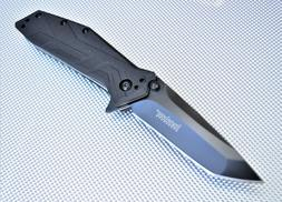 KERSHAW BRAWLER 1990 Folding Pocket Knife Tanto Blade Assist