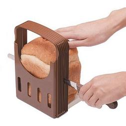 Bread Slicer Foldable Loaf Toast Cutter Kitchen Knife Tool B