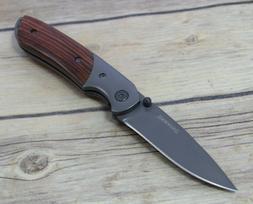 BROWNING COCOBOLO WOOD HANDLE LINER-LOCK FOLDING POCKET KNIF