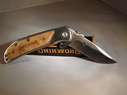 Browning knives 338 Tactical Folding Knives, SHIRO Wood Hand