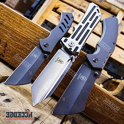 "Buckshot Knives 3 PC Tactical Camping Assisted Open 8.5"" Tan"