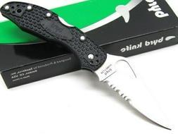 Spyderco Byrd Meadowlark2 Black FRN ComboEdge Knife