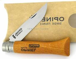 #6 Opinel Carbon Steel Folding Knife w/ Beechwood Handle and